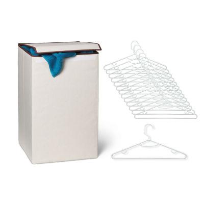 Honey Can Do Laundry Hamper & 15-pk Hangers Kit