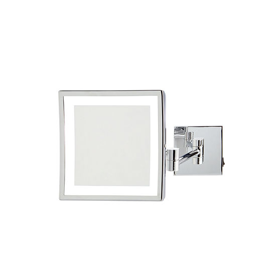 "Jerdon 8"" x 8"" 5X LED Lighted Wall Mirror"