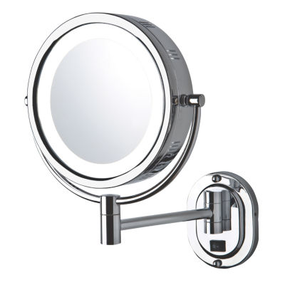 "Jerdon 8"" 5X-1X LED Lighted Wall Mirror"