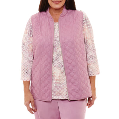 Alfred Dunner Winter Garden Quilted Vest- Plus