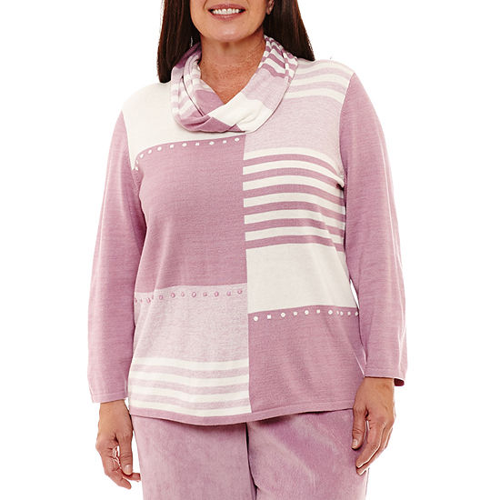 Alfred Dunner Winter Garden Colorblock Pullover Sweater-Plus