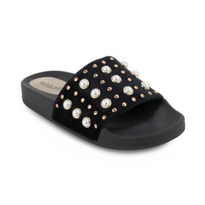 Olivia Miller Womens Slide Sandals