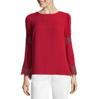 Liz Claiborne Lace Bell Sleeve Top - Tall
