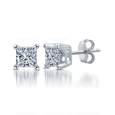 Deluxe Collection 1 CT. T.W. Genuine White Diamond 14K White Gold 5.2mm Stud Earrings