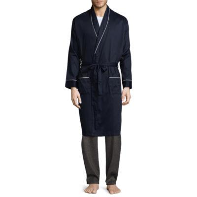Stafford® Sateen Long Sleeve Robe - Big