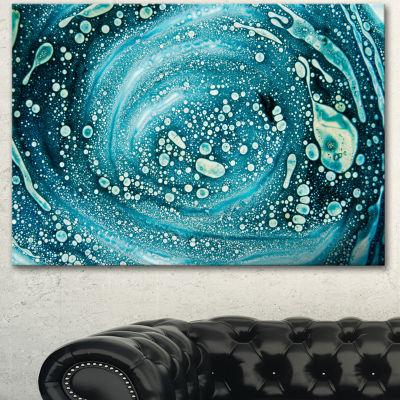 Designart Precious Blue Fabulous Pattern AbstractCanvas Art Print - 3 Panels