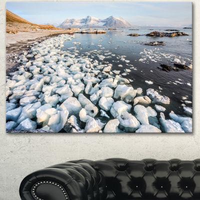 Designart Sunny Morning In Arctic Spitsbergen Large Landscape Canvas Art - 3 Panels