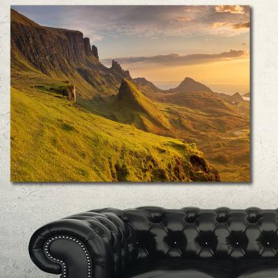 Designart Sunrise At Quiraing Scotland LandscapeCanvas Art Print