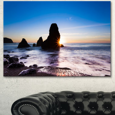 Design Art Sunset At Rodeo Beach Panorama SeashoreCanvas Art Print