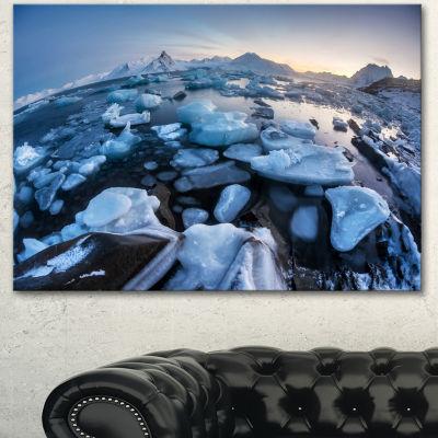 Design Art Unusual Arctic Ice Landscape Large Seashore Canvas Art Print