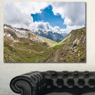 Design Art Valley With Opening In Sky Landscape Canvas Art Print