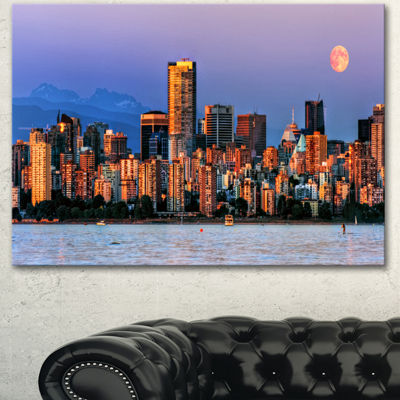 Designart Vancouver Downtown Skyscrapers Extra Large Canvas Art Print