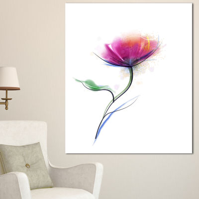 Designart Vector Watercolor Floral Design Large Floral Canvas Art Print