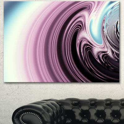 Design Art Unique Purple Fractal Art Pattern Abstract Canvas Wall Art Print