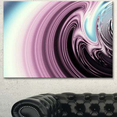 Design Art Unique Purple Fractal Art Pattern Abstract Canvas Wall Art Print - 3 Panels