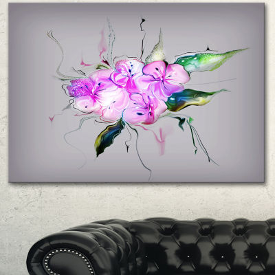 Designart Purple And Pink Pansies Flowers Large Animal Canvas Art Print