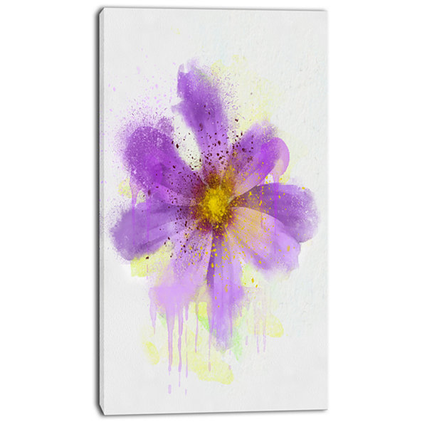 Design Art Purple Flower With Large Petals FlowersCanvas Wall Artwork