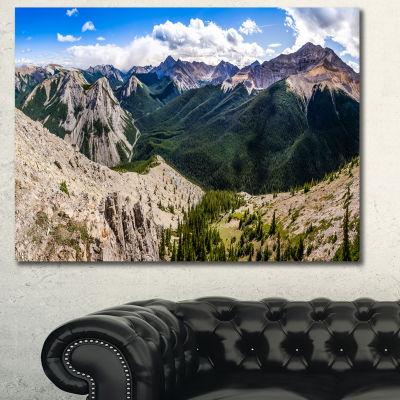 Designart Rocky Mountains Panorama Landscape Canvas Art Print