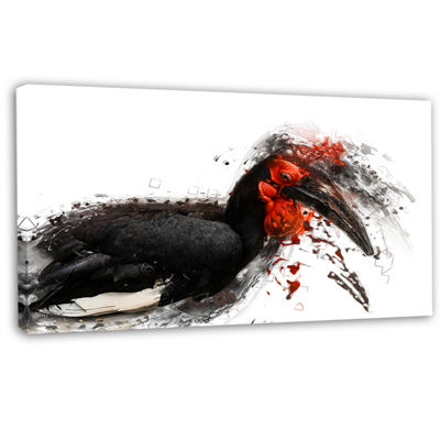 Designart Relaxing Large Exotic Bird Animal CanvasWall Art