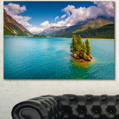 Design Art Silsersee Lake In The Swiss Alps LargeLandscape Canvas Art Print