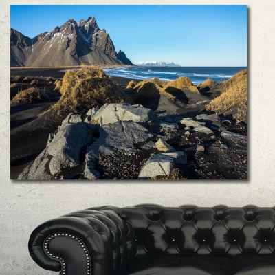 Designart Rocky Stokksness Iceland Landscape Canvas Art Print - 3 Panels