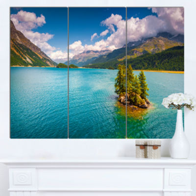 Design Art Silsersee Lake In The Swiss Alps LargeLandscape Canvas Art Print - 3 Panels