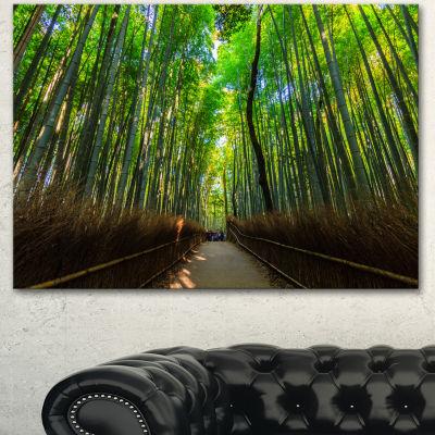 Designart Road Through Dense Bamboo Groves LargeLandscape Canvas Art