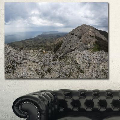 Designart Rocky Mountain Peak Panorama LandscapeCanvas Art Print