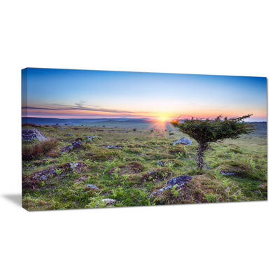 Designart Sunset On Bodmin Moor Large Landscape Canvas Art