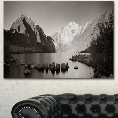 Designart Snow Mountain Lake Panorama Large Landscape Canvas Art