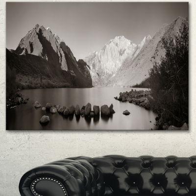 Design Art Snow Mountain Lake Panorama Large Landscape Canvas Art - 3 Panels