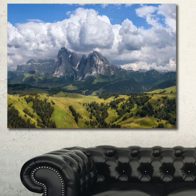 Designart Sassolungo Mountain Panorama Landscape Canvas Art Print