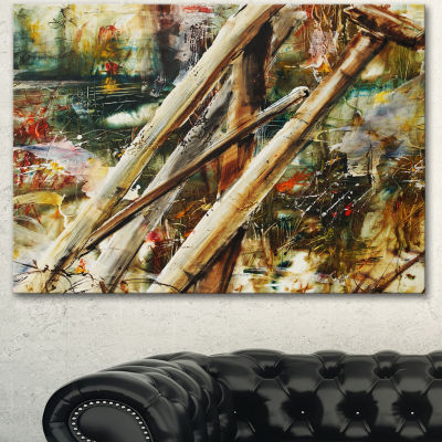Designart Tools And Abstract Pattern Large Abstract Canvas Artwork