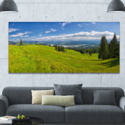 Designart Summer In Ceahlau Mountains Landscape Canvas Art Print