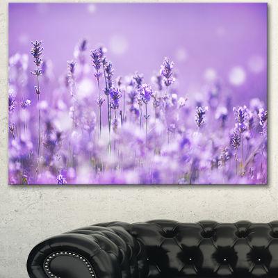 Design Art Stunning Purple Lavender Field LandscapeCanvas Art Print - 3 Panels