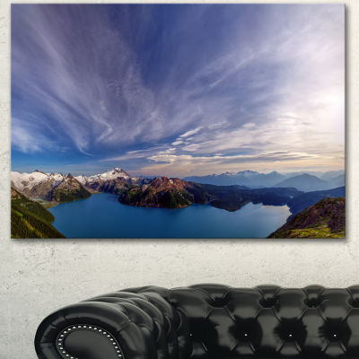 Design Art Stunning View Of Clear Lake Extra LargeLandscape Canvas Art Print - 3 Panels