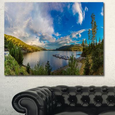 Designart Sognefjord In Norway Panorama LandscapeCanvas Art Print