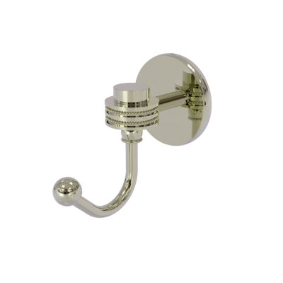 Allied Brass Satellite Orbit One Robe Hook with Dotted Accents