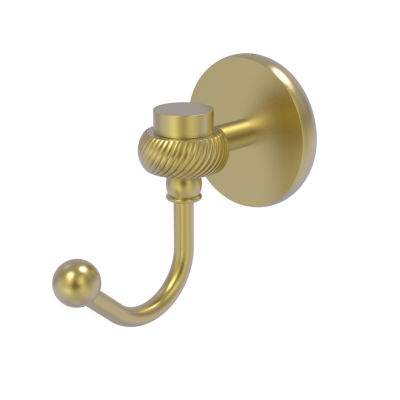 Allied Brass Satellite Orbit One Robe Hook with Twisted Accents