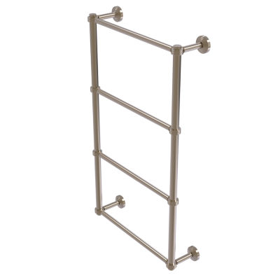 Allied Brass Waverly Place Collection 4 Tier 24 Inch Ladder Towel Bar with Groovy Detail
