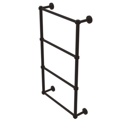 Allied Brass Waverly Place Collection 4 Tier 30 Inch Ladder Towel Bar with Dotted Detail