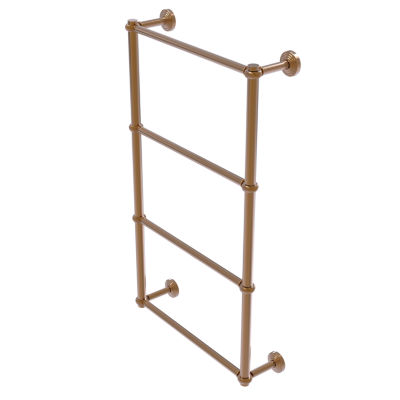 Allied Brass Waverly Place Collection 4 Tier 30 Inch Ladder Towel Bar with Twisted Detail