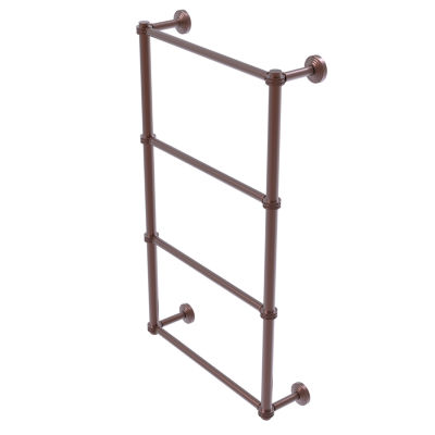 Allied Brass Waverly Place Collection 4 Tier 36 Inch Ladder Towel Bar with Dotted Detail