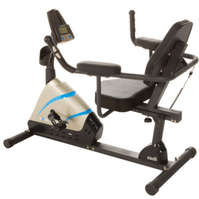 "Exerpeutic 2000 High Capacity Programmable Recumbent Exercise Bike with ""Air Soft"" Seat and Heart Pulse Sensors"