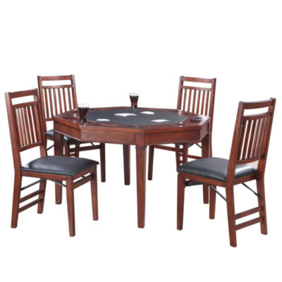 Broadway 48-in Folding Poker Table & Chairs Set