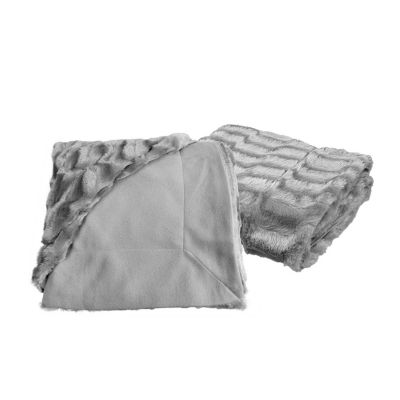 Designer Faux Fur Throw