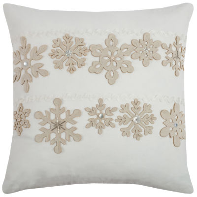 Rizzy Home Amelia Snowflakes Holiday Pillow
