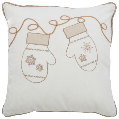 Rizzy Home Aria Snow Mittens Holiday Pillow