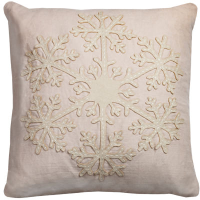 Rizzy Home Hannah Snowflake Holiday Pillow