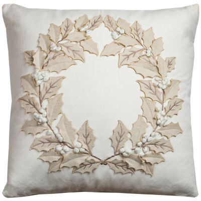 Rizzy Home Alisson Wreath Holiday Pillow